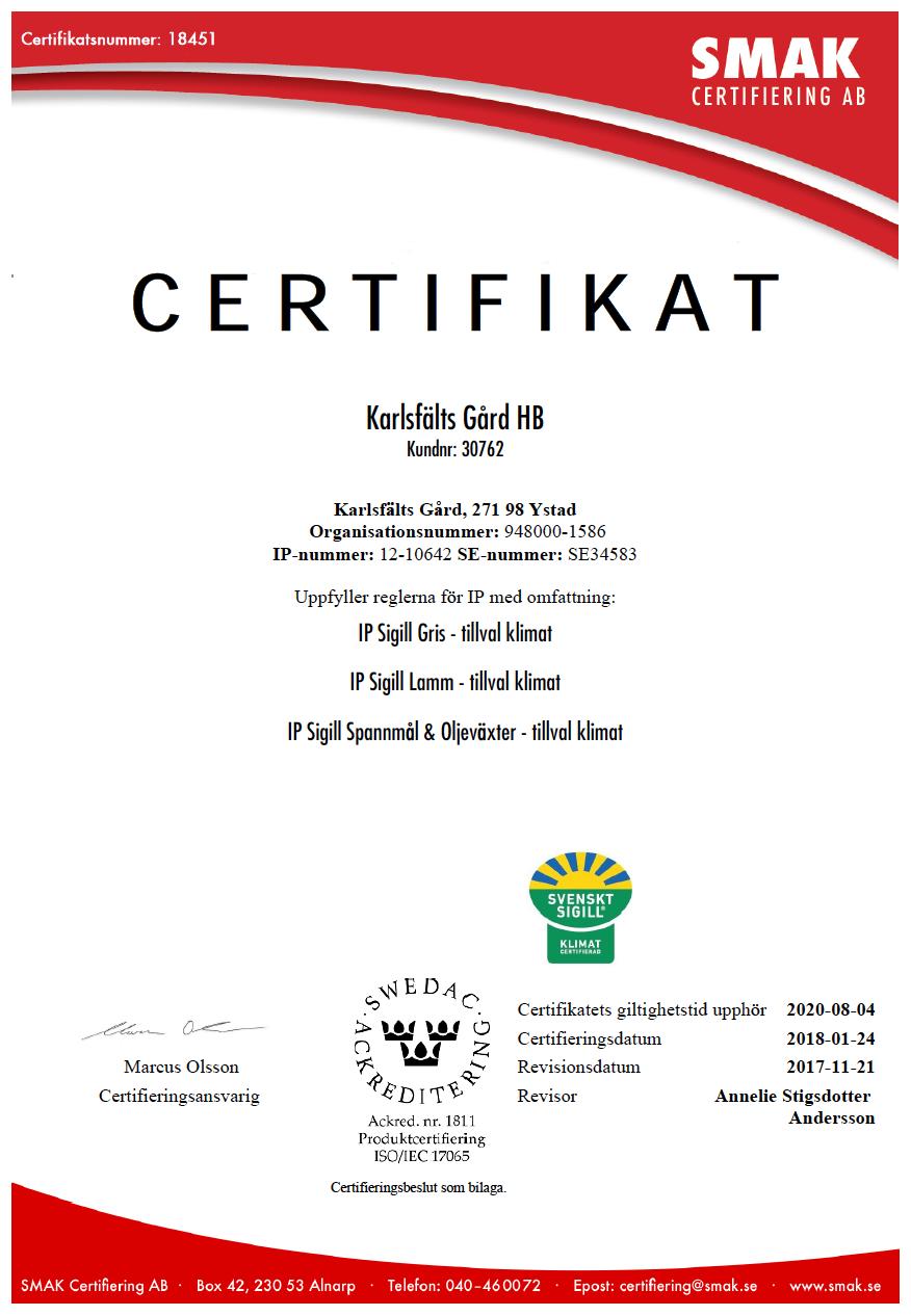 SMAK-certifikat